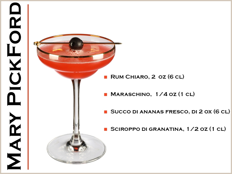 Ricetta del Mary Pickford cocktail